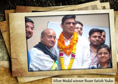 Silver Medal winner Boxer Satish Yadav in common Wealth games01