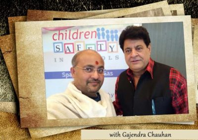 with Gajendra Chauhan